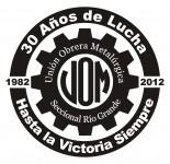 Logo UOM para conmemorar los 30 años de creación de nuestra Seccional